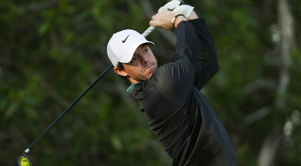 Rory McIlroy recorded a five-under 67, leaving him two shots off the lead (AP)