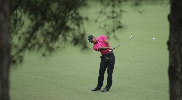 Tiger Woods is in the penultimate group for the first round of the Masters (AP)