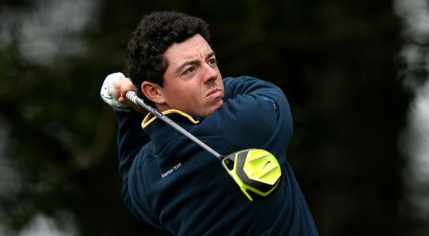Rory McIlroy was out of contention for the Masters on Friday