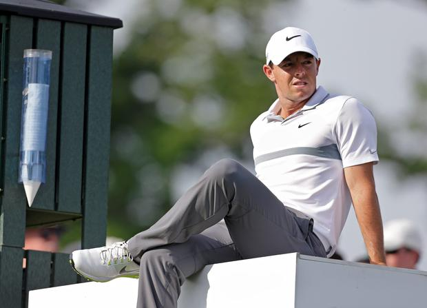 Sitting pretty: Rory McIlroy has set his sights on becoming the best player of his generation