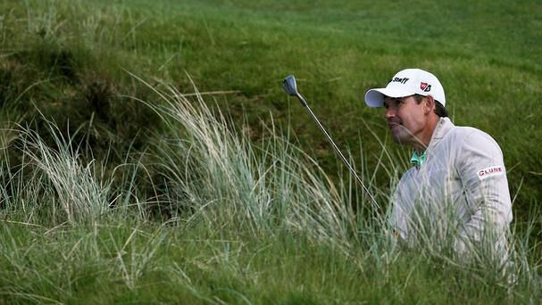 Padraig Harrington continued to set the pace in the Irish Open on Friday