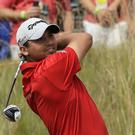 Jason Day had a fantastic third round at the US Open at Chambers Bay.(AP)