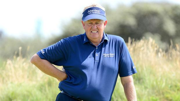 Colin Montgomerie missed out on a place at the Open at final qualifying