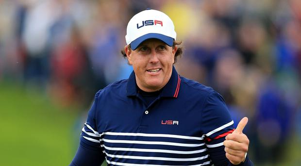 Phil Mickelson, pictured, can relate to Rory McIlroy's current injury nightmare