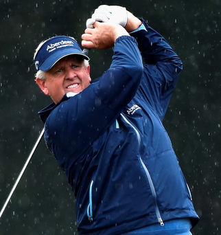 In hunt: Colin Montgomerie is a front runner in Senior Open