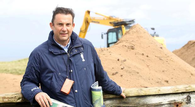 Major plans: Martin Ebert, of golf course architects Mackenzie & Ebert, at Royal Portrush
