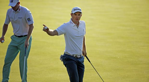 Justin Rose is three shots off the lead (AP)