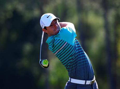 ANTALYA, TURKEY - OCTOBER 29 : Rory McIlroy of Northern Ireland in action on the second hole during the first round of the Turkish Airlines Open at The Montgomerie Maxx Royal Golf Club on October 29, 2015 in Antalya, Turkey. (Photo by Mark Runnacles/Getty Images)