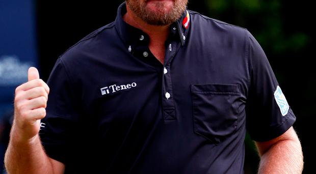 Back in form: Graeme McDowell is hoping to secure back-to-back titles for the second time