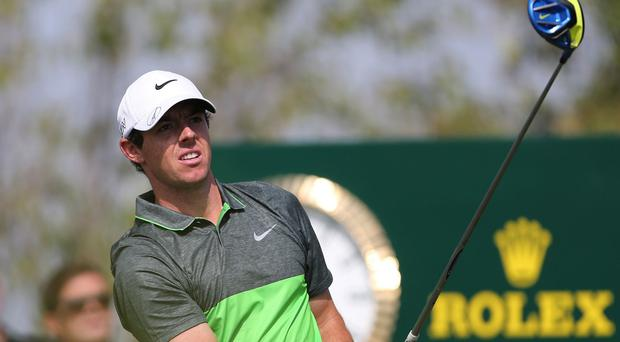 Rory McIlroy fired eight birdies and one bogey in a third-round 65 on Saturday (AP)