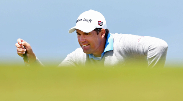Eye on prize: Padraig Harrington competes at this year's Irish Open at Royal County Down Golf Club
