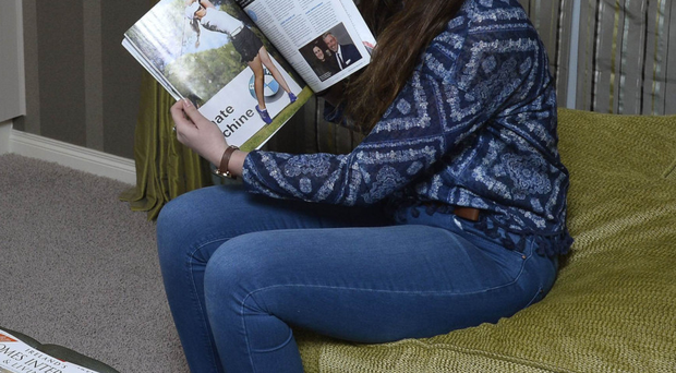 Down to a tee: Olivia Mehaffey relaxes at home