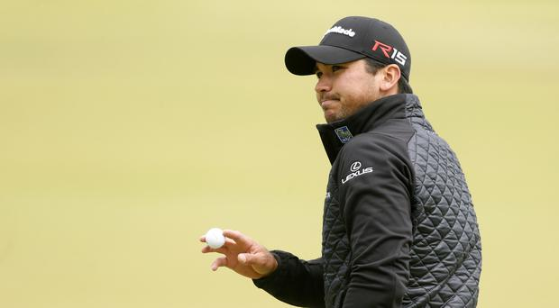 Jason Day's back injury did not appear to be a problem on day two in Austin