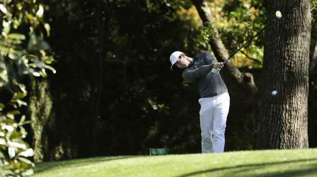 Rory McIlroy's Masters week began with a bang thanks to a hole-in-one (AP)