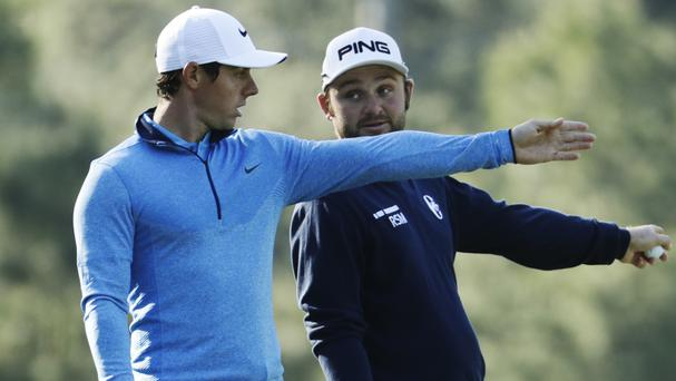 Rory McIlroy, left, has his sights set on a career grand slam at the Masters (AP)