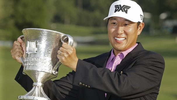 James Hahn secured his second PGA Tour title following a play-off with Roberto Castro (AP)