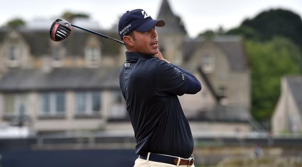Matt Kuchar, pictured, holds a share of the lead in Ohio with fellow American Brendan Steele
