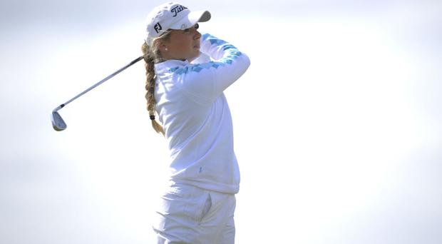 Bronte Law won both of her matches on day one of the Curtis Cup