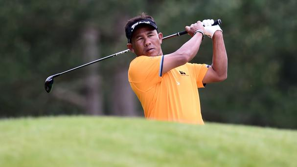 Thailand's Thongchai Jaidee remained in the lead in Paris