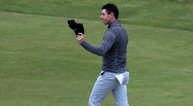 Rory McIlroy ended a frustrating week with a strong finish at Royal Troon