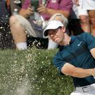 Rory McIlroy was struggling in the US PGA Championship (AP)