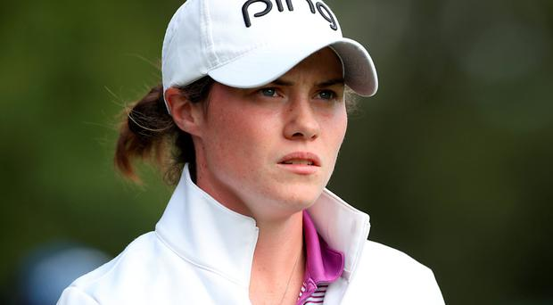 Off the pace: Leona Maguire is nine shots behind the leader at Woburn