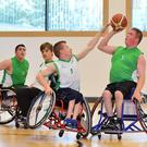 Heat of battle: the NI U19 wheelchair basketball squad in action at Girdwood