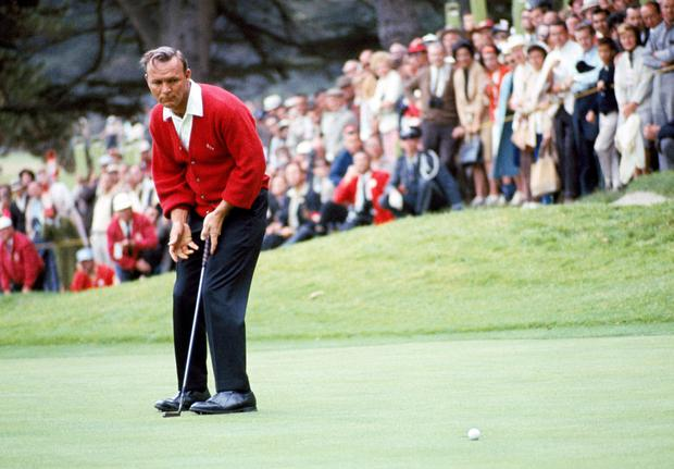 Class act: Palmer in action during the US Open Championship in 1966
