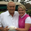Firm pals: Lynn McCool with Arnold Palmer