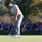 Rory McIlroy felt he quietened the crowd on the second morning of the Ryder Cup