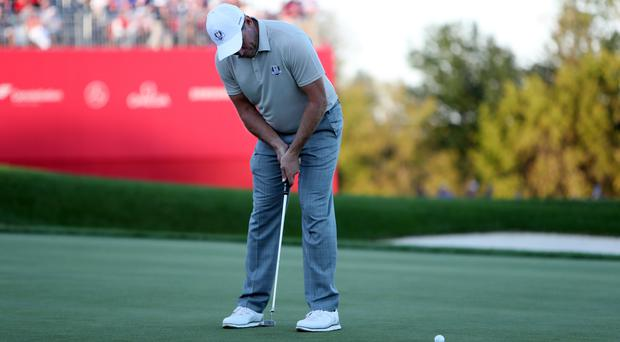 Lee Westwood failed to win any of his three matches at Hazeltine