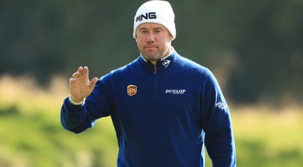 Lee Westwood finished day one of the British Masters a shot off the lead