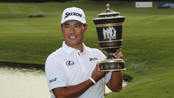 Japan's Hideki Matsuyama claimed his first WGC title in Shanghai (AP)