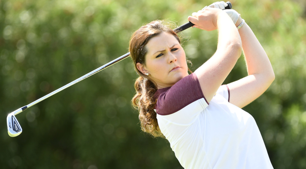 In the swing: Olivia Mehaffey is practicing hard at home after completing her first semester at Arizona State University
