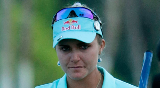 Controversy: Lexi Thompson was penalised four strokes in total