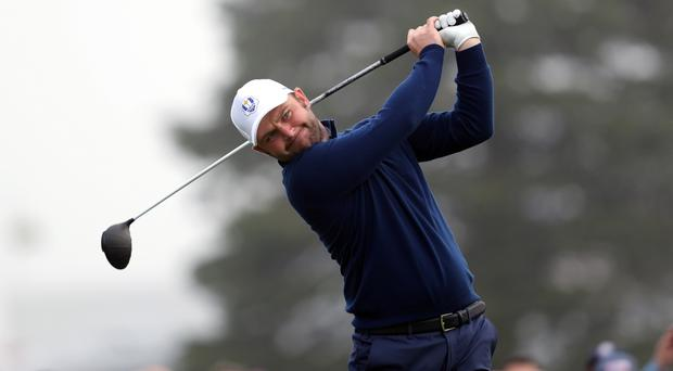Europe's Andy Sullivan made a poor start to his third round in the Masters