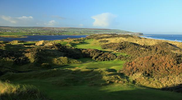 Scenic test: Portstewart Golf Course will provide a fitting back drop to this year's Dubai Duty Free Irish Open