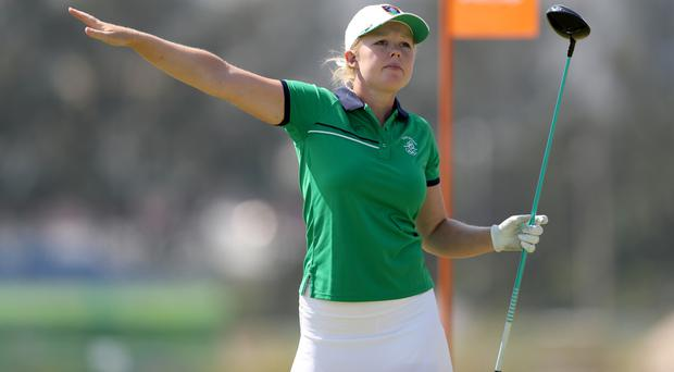 That way to the US Open: Stephanie Meadow has qualified for the major tournament in nail-biting style.