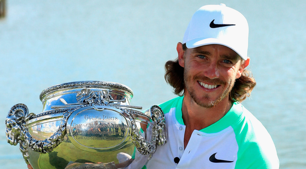 French class: Portstewart-bound Tommy Fleetwood shows off French Open trophy