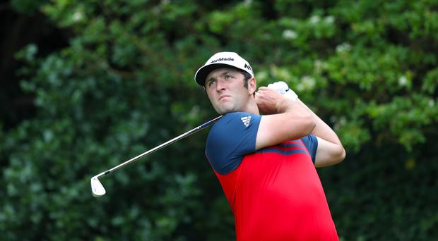 Spain's Jon Rahm set the clubhouse target on day two of the Dell Technologies Championship