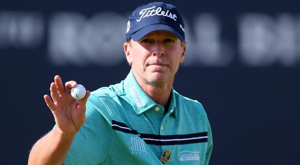 Steve Stricker, pictured, and playing partner Sean O'Hair won the QBE Shootout by two shots in Florida