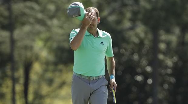 Sergio Garcia suffered a miserable first round at Augusta National