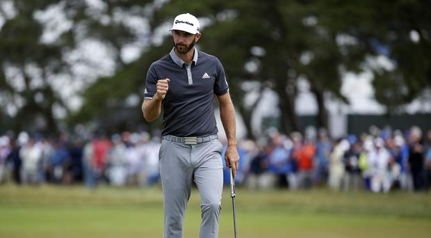 Dustin Johnson appeared to be in control of the US Open midway through day two (Seth Wenig/AP)