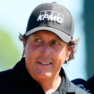 Thumbs up: Phil Mickelson acknowledges the fans