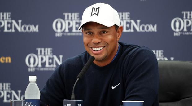 Tiger Woods is seeking a 15th major title in the 147th Open Championship at Carnoustie (Jane Barlow/PA)