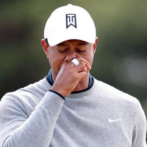 Tiger Woods is worried about the weather at Carnoustie (Richard Sellers/PA)