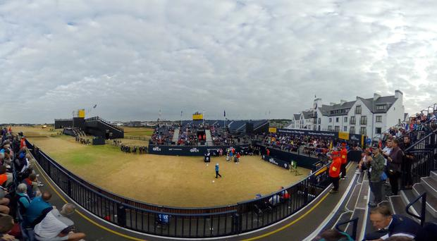 Benign conditions greeted the start of The 147th Open Championship (Jane Barlow/PA)