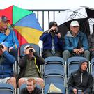 Rain greeted the early starters in the second round of the Open at Carnoustie (Richard Sellers/PA).