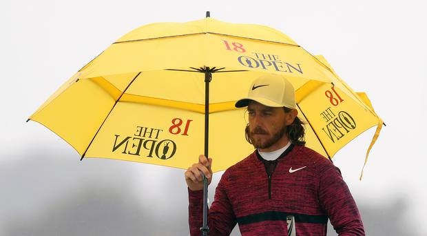 Tommy Fleetwood is in contention for a first major title in the Open Championship (David Davies/PA)