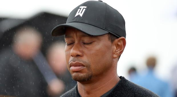Tiger Woods was in trouble on the second hole at Carnoustie (Jane Barlow/PA)